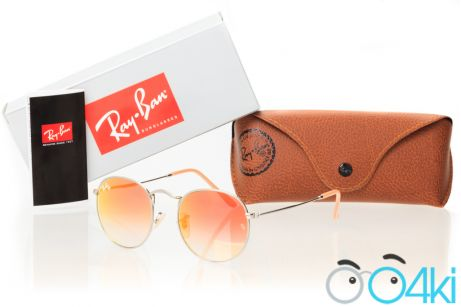 Ray Ban Round Metal 3447orange-silver
