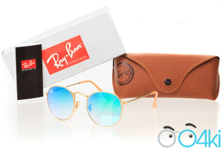 Ray Ban Round Metal 3447jungle-gold