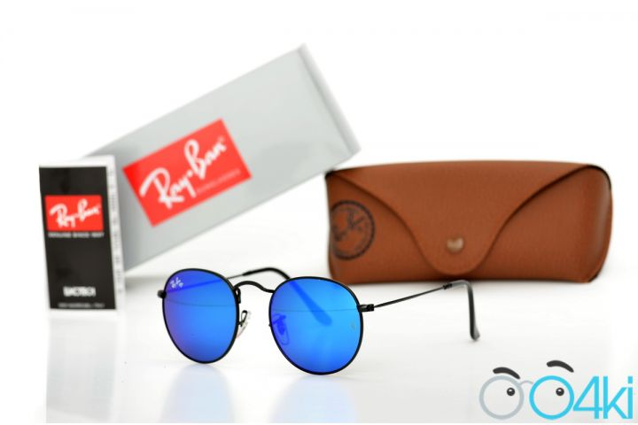 Ray Ban Round Metal 3447blue-b