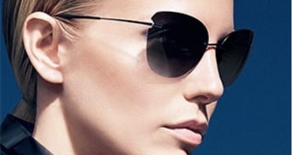 С чем носить синие солнцезащитные очки