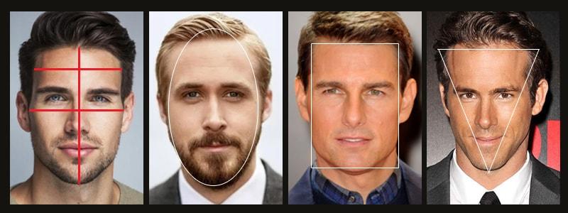 как определить форму лица мужчине фото