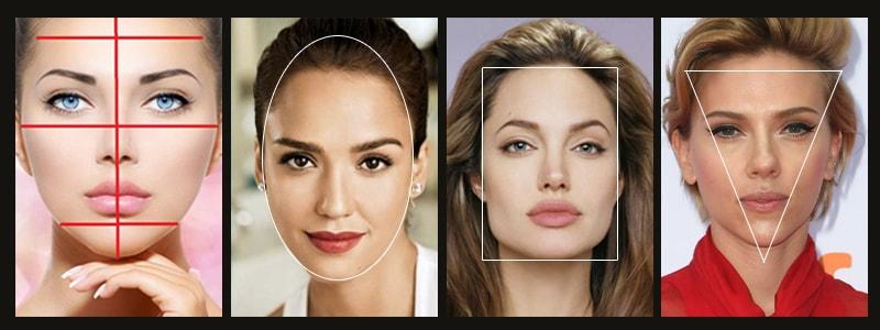 как определить форму лица женщине фото