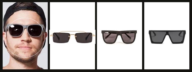 как подобрать мужские очки с круглой формой лица