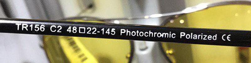 Маркировка фотохромных очков с поляризацией фото