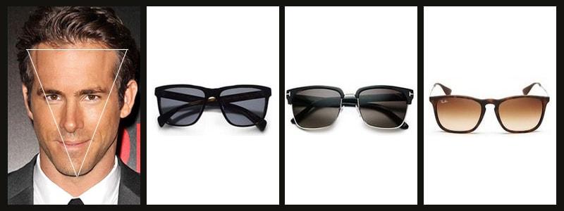 мужские очки к типу лица перевернутый прямоугольник фото