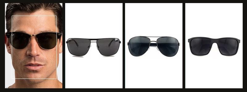 подходящие мужские очки к прямоугольному лицу