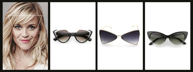 подходящие женские очки к треугольной форме лица