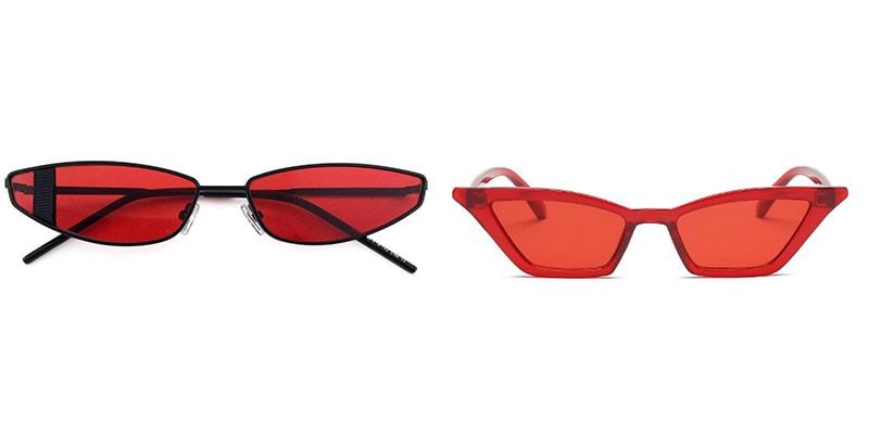 с чем сочетать красные очки картинка